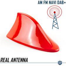Antenna Auto PINNA DI SQUALO Rossa Universale | VERA Ricezione RADIO AM-FM-DAB+