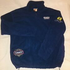 Jimmie Johnson 48 Nascar 1/4 Fleece Pullover Size L Jacket Outerwear