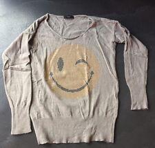 Wunderschöner Strickpulli mit Smiley v. ANNAEFFE Italiandress, Gr. S/M, wie Neu!