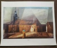 "Lyonel Feininger Vintage Print ""The Church"" 22.5""×27.5"" 1960's Shorewood Publish"