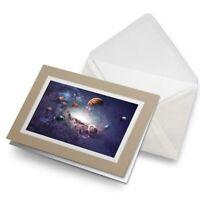 Greetings Card (Biege) - Space Planets Saturn Sci-Fi  #2368