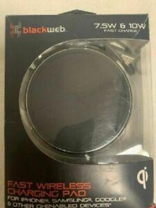 Blackweb BWB18WI705B 7.5W & 10W Fast Dual Wireless Charging Pad +36W Adapter GB