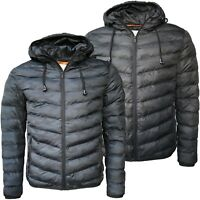 Mens Jackets Winter Coat Camouflage Padded Full Zip Casual Winter Coat Headphone