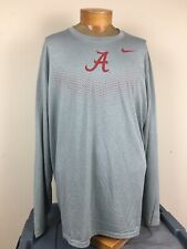 Nike Dri-Fit Long Sleeve Shirt Alabama Crimson Tide Men's Size XXL