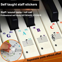 Universal Piano Learner Stickers Music Piano88/61/54/49Key Note Keyboard Decals