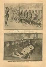 WWI Soldiers Deutsches Heer/Tommies British Army barrack War 1915 ILLUSTRATION