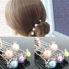 5PCS Brides Hair Accessories Simple Hair Pins pearl Rhinestone Hairpins Women