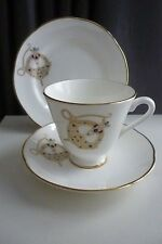 "Vintage Royal Tara - ""Tara Brooch"" Patterned Trio-Footed Cup,Saucer & Side Plate"