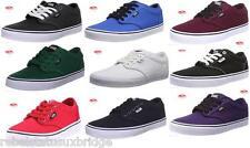 Junior Boys Kids VANS Atwood Blue Casual Fashion Plimsolls Trainers Shoes Size UK 5
