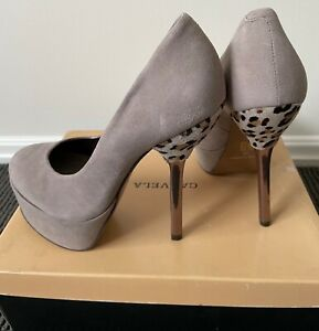 "Brand NEW Carvela ""Auction"" Ladies Grey Suede Pump Heels - Size 37 RRP$240"