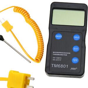 K Type Digital High Temperature Thermometer Pyrometer + Probe 1300℃ 2327℉ UK-
