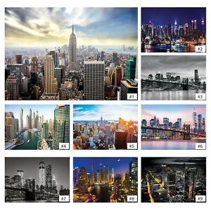 Fototapete NEW YORK Tapete Vlies Stadtblick Stadt Wohnzimmer Skyline 3D EFFEKT
