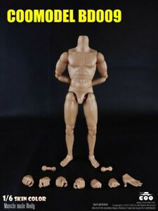 Muscular Male Body Model 1/6 Scale COOMODEL BD009 Nude Doll Toy 12'' Figure