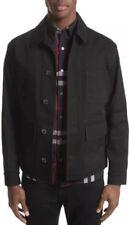 Burberry Men's Black Roysten Workwear Denim Jacket Sz 50 Medium $1595 NWT
