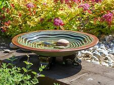 Wildlife World Echo Garden Ceramic Bird Bath