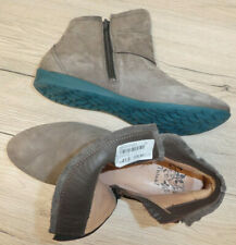 THINK !!  Damen Leder- Stiefelette Boots // Gr. 42 (41,5) // grau Nubuk