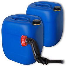2er Pack 30 L Kanister Behälter blau Plastikdeckel Ausgießer flexibel lang DIN61