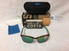 3a3d2b20e5 Costa Del Mar Anaa Polarized Sunglasses Tortoise Green 580p Ana 105 OGMP 580