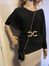 Chanel Black CC Logo Mini Crossbody Gold Plated Patent Leather Bag
