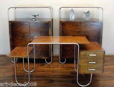 Schreibtisch Desk Stahlrohr Chrom Holz André Lurcat? PS8 Slezak Bauhaus Art Deco