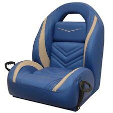 Legend Bass Boat Helm Seat | Blue Beige w/ Grab Handles