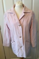 Ladies Summer Breeze Fashion Pink Suede Feel Casual Coat Jacket Size 10 B59