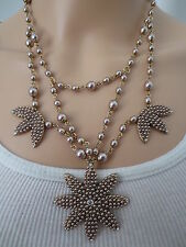 AN AUTHENTIC SIGNED OSCAR DE LA RENTA RUNWAY VINTAGE SEED PEARL NECKLACE