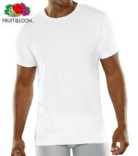 Fruit of the Loom Men's Cooling Cotton Mesh White Crew T-Shirts 3 Pack Size M-XL