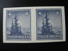 THURINGEN SOVIET OCCUPATION Mi. #93X U mint MNH imperf stamp pair! CV $167.50