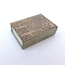The west wall vintage match box pack holder for matches Israel Judaism Sabbath