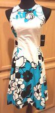 Ralph Lauren American Living Multi-Floral Stretch Cotton Fit Flare Dress, 2R $89