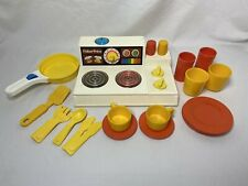 Vintage Fisher Price 919 Magic Burner Stove Top Play Kitchen Extra Accessories
