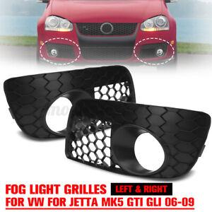Front Bumper Fog Lamp Lights Grill Grilles For VW GOLF MK5 GTI 2006-2009