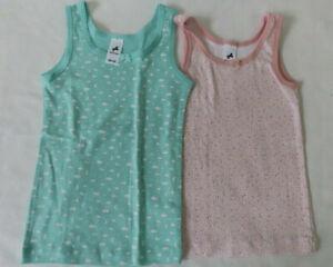 Zwei Mädchen Unterhemden, Palomino  Gr. 98-104