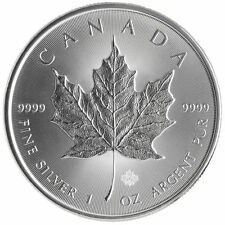 Lotto 4x1 oz Silver Maple Leaf ounce 4 once purissimo argento 999.9 nuove 2015