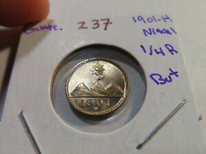 Z37 Guatemala 1901-H 1/4 Real Niquel BU+