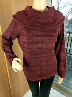 Peruvian Connection Sweater Cowl Neck Baby Alpaca Pima Cotton Wool Size Large L