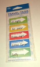 Planificador de viaje Etiquetas Recordatorio Notas Adhesivas visita de vacaciones idea Flecha Pestañas NPW Regalo