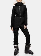 Topshop SNO Black Volcan Hooded Ski Snow Suit Size US 12/UK 16