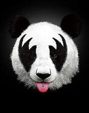 ART PRINT Panda Rocks Kiss of a Panda Robert Farkas 11x14