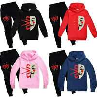 Kids Chad Wild Clay Hoodie Top+Pants Trousers CWC 2PCS Set Boys Girls Tracksuit