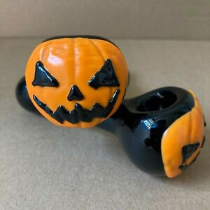 Hand Blown Halloween Glass Pipe Smoke Hand Spoon Pipes Tobacco Smoking Herb Bowl
