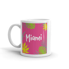 Miami Summer haute qualité 10 oz (environ 283.49 g) Café Thé Tasse #7621
