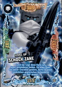 75 - Level Up Schock Zane LEGO Ninjago Trading Card Serie 6 NEXT LEVEL