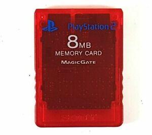 Playstation 2 8mb Memory Card Red MagicGate 476CA