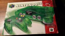 Nintendo 64 Funtastic Jungle Green Console - Complete + 3 Controllers + Games