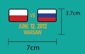 Russia EURO 2012 FINALS Jersey Match Details Excellent Quality