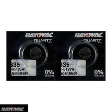 2 x Rayovac 335 Silver Oxide batteries 1.55V SR512SW V335 D335 Renata 0% Mercury