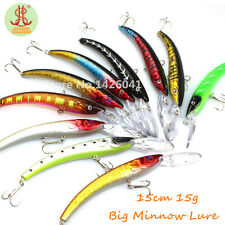 10pcs Sea Fishing Lures Spinner Baits Crankbait Assorted Fish Tackles Wobblers