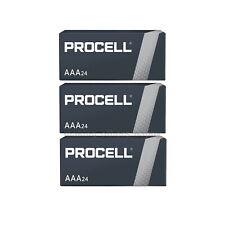 72 AAA Duracell Procell Alkaline Batteries 1.5V (Triple A, PC2400, LR03)